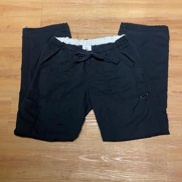 Women's black Koi scrub pants